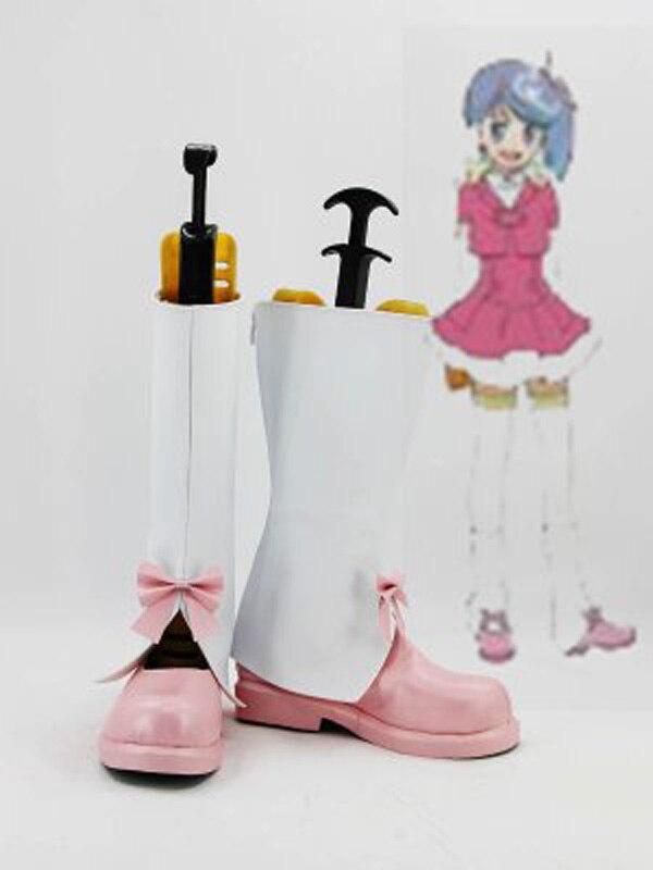 Akb0048 makoto yokomizo flat cosplay sapatos botas para adulto festa de halloween das mulheres botas cosplay feito sob encomenda