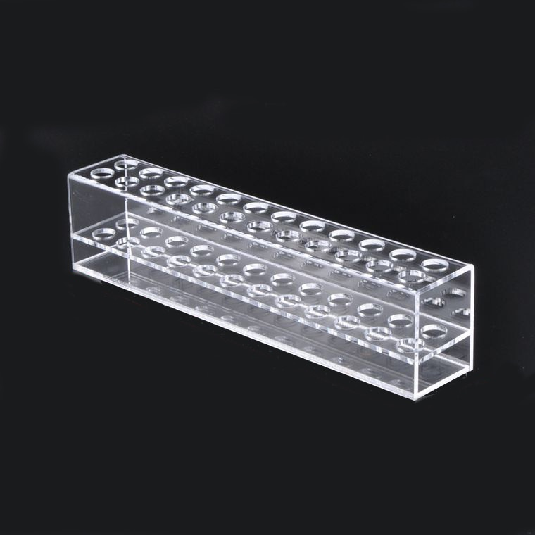 Transparent 24 Spaces Acrylic Eyebrow Pencil Holder Cosmetic Organizer Display Storage Showcase smart spaces storage at home
