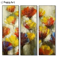 artist 100 hand painted abstract flower oil painting on canvas for living room decor modern 3pcs flower acrylic paintings