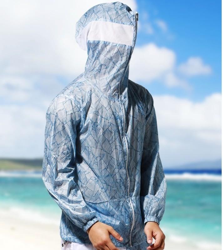 Ultradünne Atem Rashguard Männer Rash Guard Langarm Windsurf Surf Shirt UV Schutz Strand Jacke Mantel Hoodied Segel Kleidung
