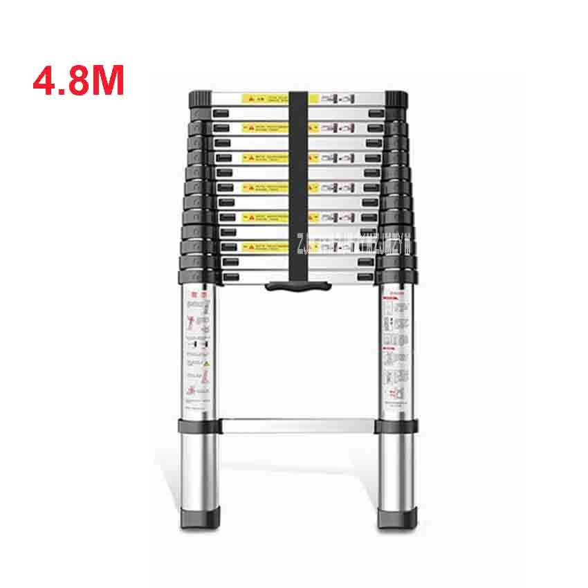 4.8 Meter DLT-A Extension Ladder Aluminum Alloy Thickened Straight Ladder Single-sided Ladder 14-step Folding Engineering Ladder