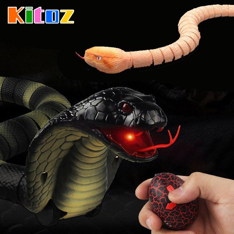 Kitoz RC serpiente Naja Cobra Viper Control remoto juguete infrarrojo Animal simulado novedad truco terrorífico broma regalo