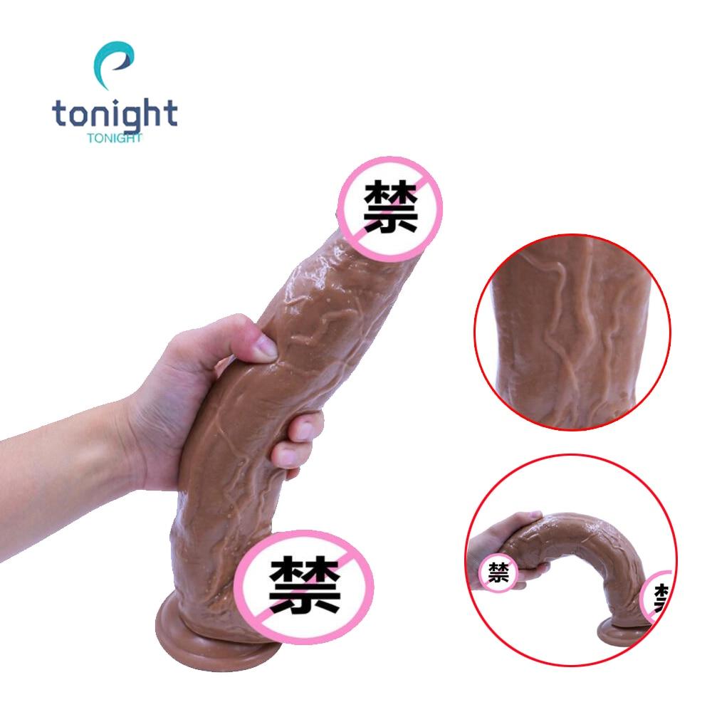 Huge Dildo Big Fake Penis Artificial Phallus Dildo Realistic Skin Suction Cup Alien Dildos For Women12inch Black Horse Penis xxl