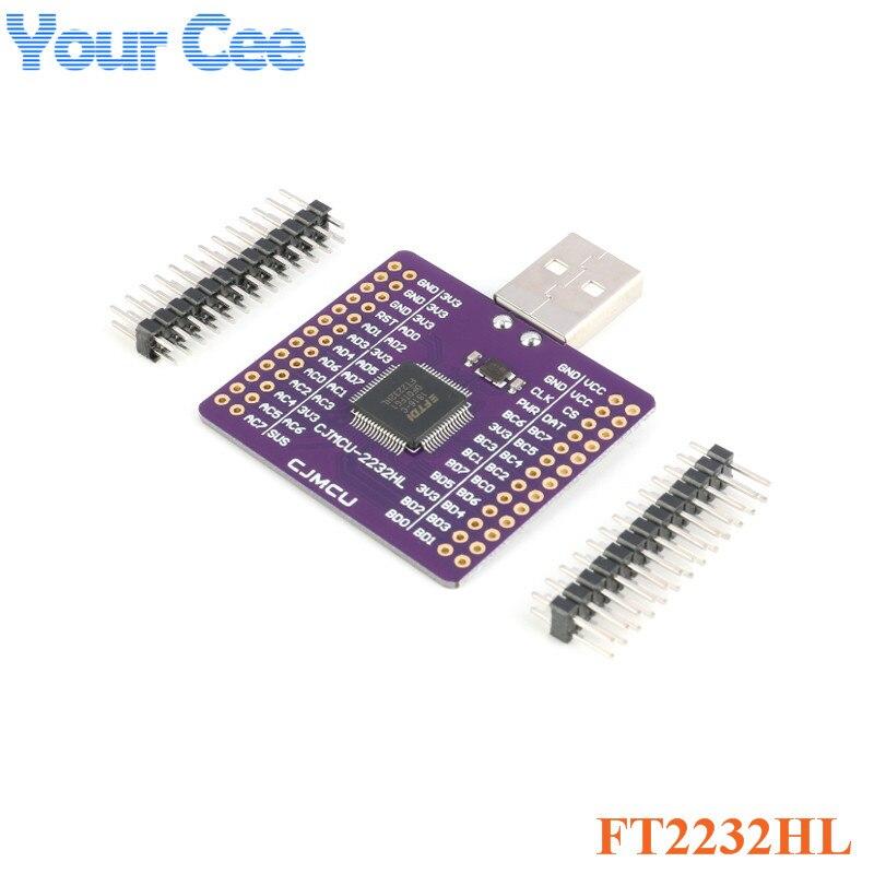 FT2232HL USB תור UART FIFO SPI I2C JTAG RS232 מודול FT2232HL CJMCU-2232HL USB לuart מודול ערוץ כפול