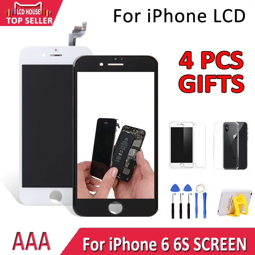 2020 grau aaa display para apple iphone 6 6g 6 s 6gs lcd tela de toque digitador assembléia substituição com 3d força ecran a1688