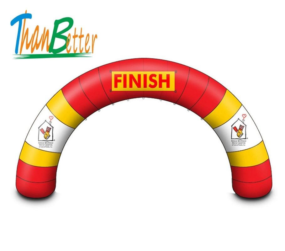 Arco inflable de mejor forma redonda, arco inflable para publicidad, arco inflable de inicio/llegada