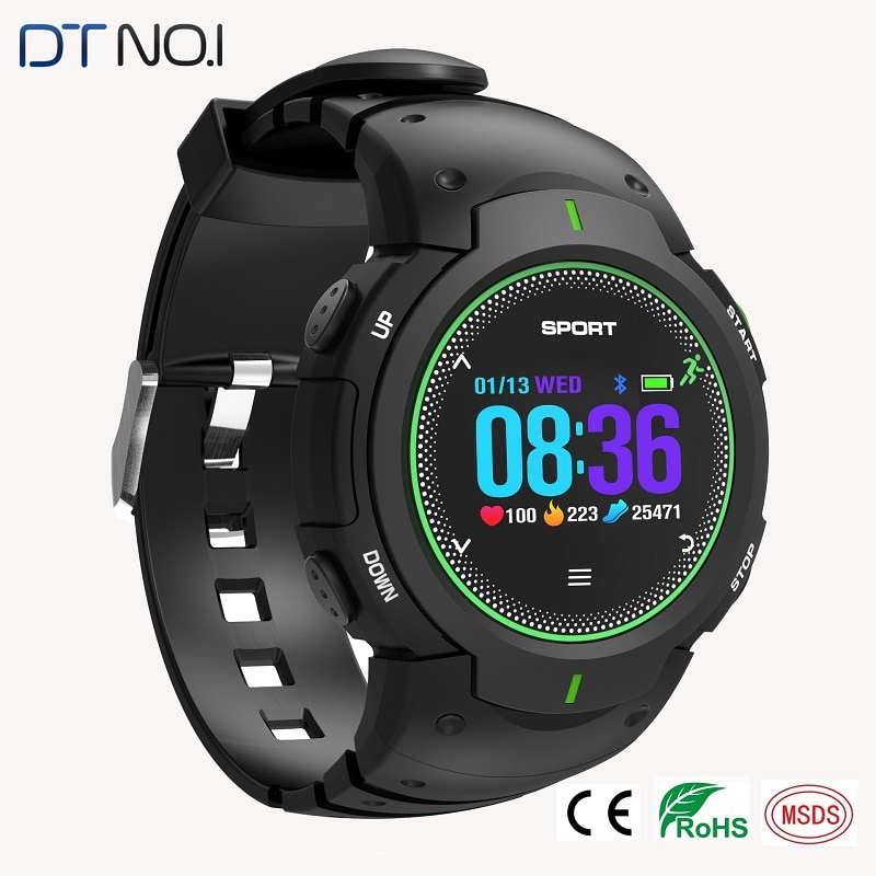 Swimming Smart Watches DTNO.I F13 50m Waterproof Bluetooth Smartwatches Sport Outdoor 3D Radians Screen Dust-proof Color Display