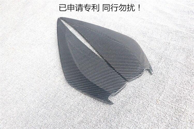 Apto para mustang 2018 vento de fibra de Carbono faca de lâmina lâmpada diurna acessórios spoiler