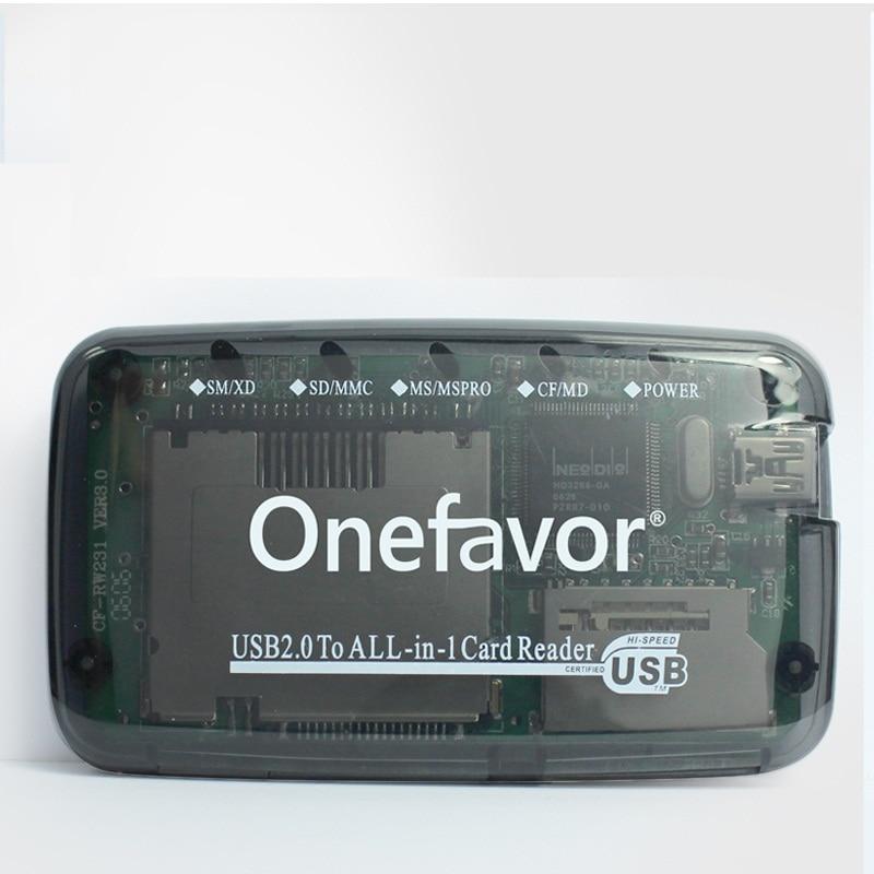 Кард-ридер SmartMedia SM, устройство для считывания карт USB 2,0, все в одном, для SD, MMC, SM, XD, CF, MS