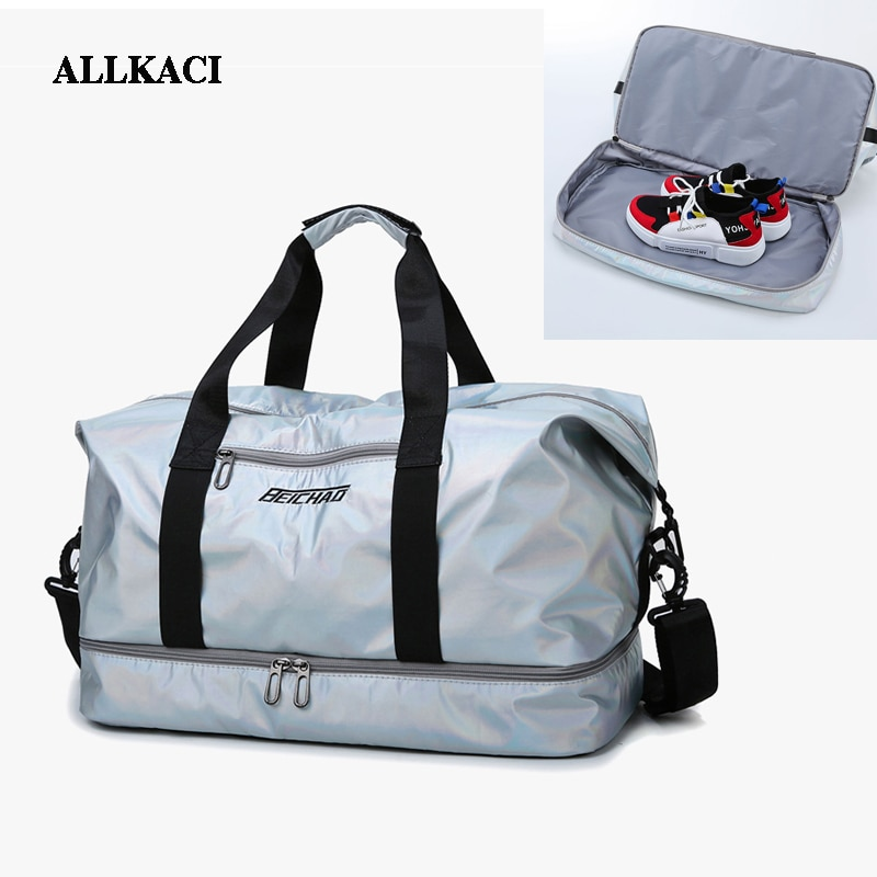 ALLKACI Large Women Casual Travel Bags Large Capacity Women Travel Bag Hand Luggage Waterproof Nylon Shoulder Bag Handbag 5051 weiju new casual travel bags men large capacity handbag luggage travel duffle bag nylon shoulder bag simple traveling bags