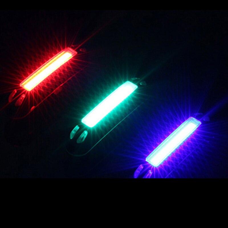 Luz de bicicleta ultraligera de 100 lúmenes, advertencia de seguridad LED USB recargable, lámpara frontal trasera, luz de bicicleta, luz trasera de 3 colores