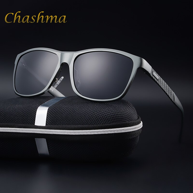 CHASHMA Brand Polarized Sunglasses Men's Aluminum Magnesium Frame Car Driving Sun Glasses Polarised