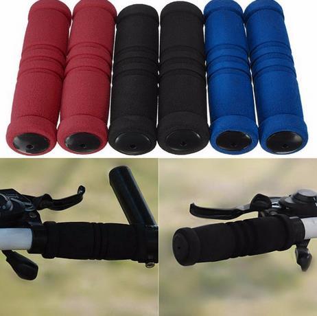 1 Par MTB Da Bicicleta Da Bicicleta do Punho do Guiador Durável Macio Esponja Bar Aperto Covers Frete Grátis