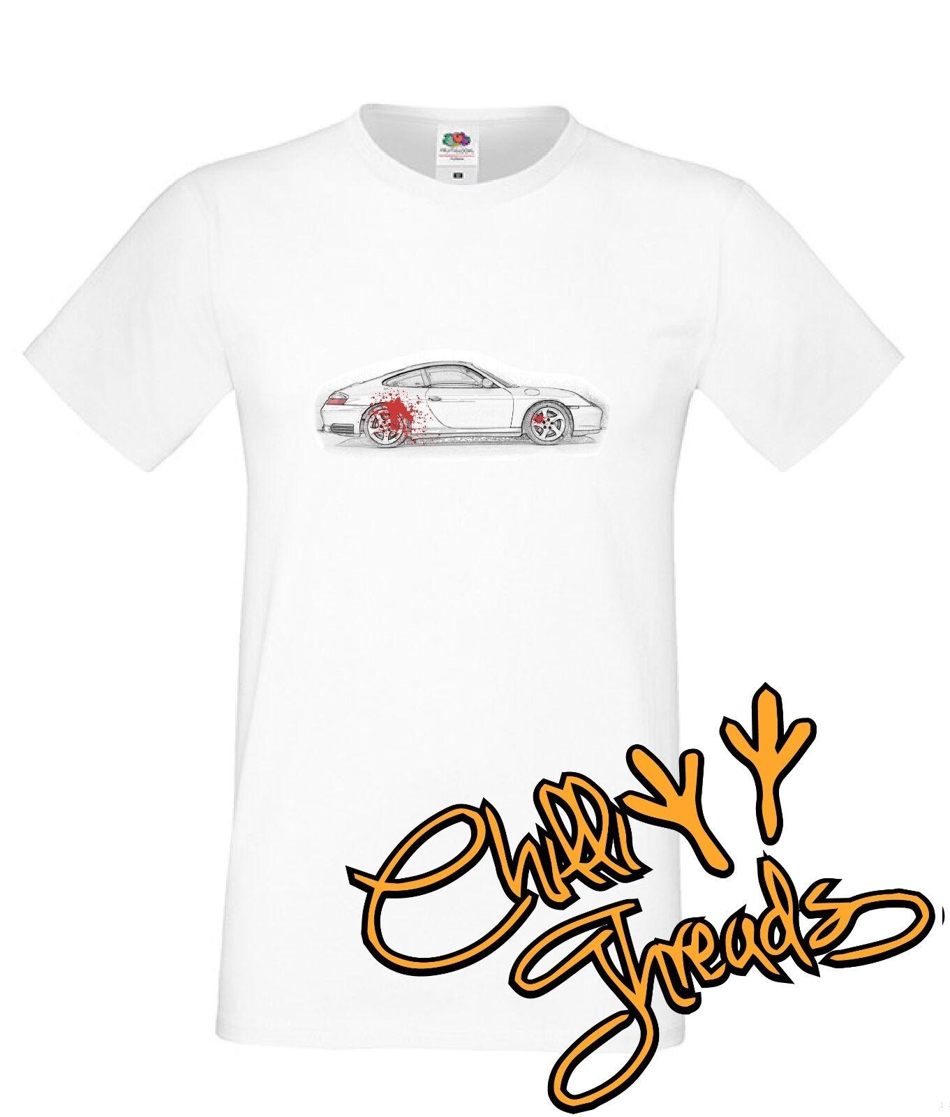 Arte del coche 996 4S C4S camiseta premium (001) camiseta de moda de verano para hombre, cómoda camiseta 2019 camiseta de moda