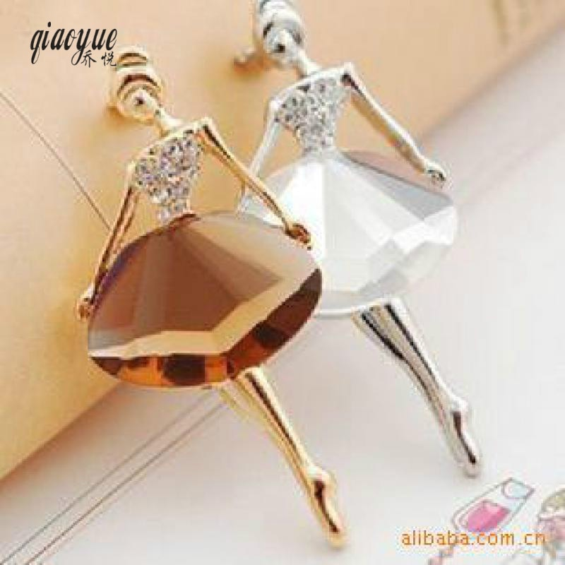AliExpress - Fashion Ballet Girl Fashion Crystal Brooch Broches Jewelry Brooches For Women Cute Pins Brooch Enamel Pin Wholesale