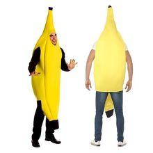 Adulte unisexe drôle Costume banane jaune Costume lumière Halloween fruits fantaisie fête Festival robe de danse Costume