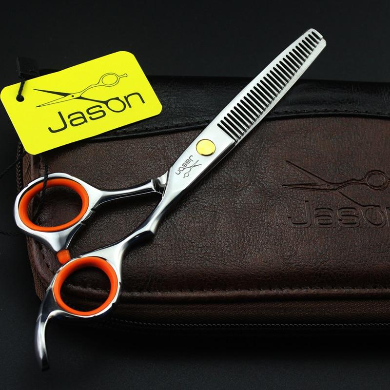 Купить с кэшбэком 2 Scissors+Bag+Comb Japan High Quality Jason 5.5/6.0 Inch Professional Hairdressing Scissors Hair Cutting Barber Shear Set Salon