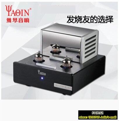 YAQIN MS-23B усилитель клапанной трубки Phono Stage MM RIAA Turntable Hi-Fi стерео вакуумная трубка предварительно усилитель 110-240 В MS23B