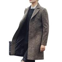 new men long trench coat men fashion wool trench coat windbreaker steampunk men overcoat casual outerwear coats c75nf21