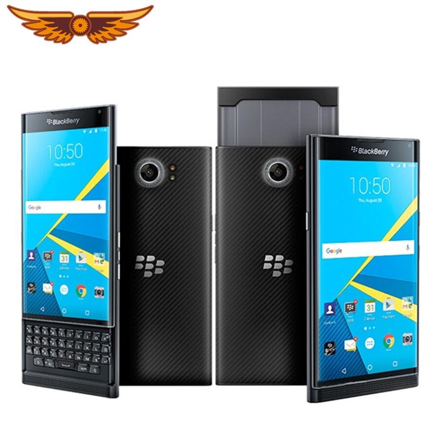 "Original BlackBerry Priv 5,4 ""Hexa core Android OS 3GB RAM 32GB ROM 18MP Cámara reformado teléfono móvil"