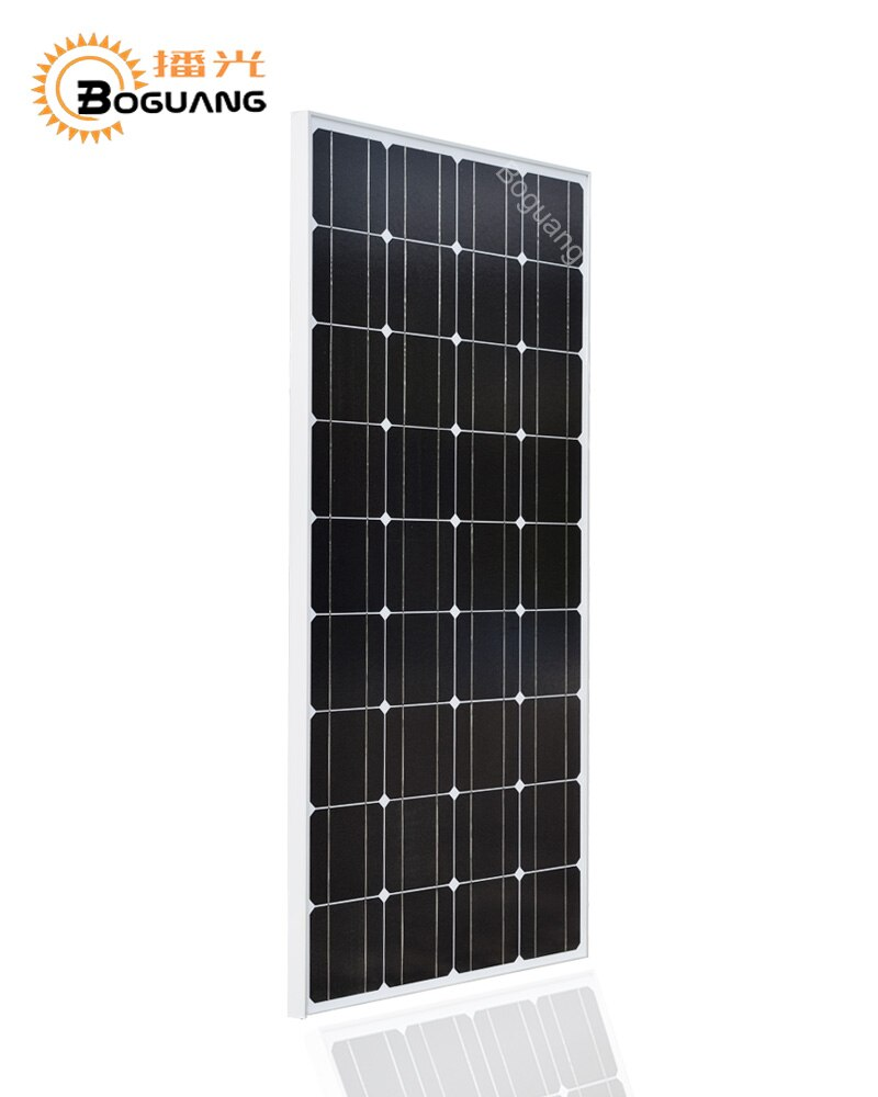Boguang 18V 100W panel solar proyecto monocristalino silicio célula placa marco PV conector para 12v batería casa cargador de energía