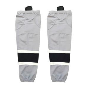 COLDINDOOR 100% Polyester gray Ice Hockey Socks Cheap Shin Guards W052