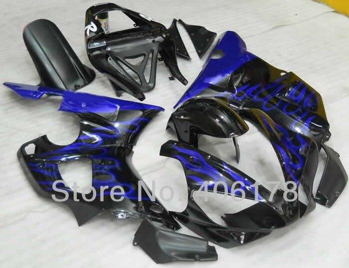 Cheap 2000 2001 yzf1000 R1 kit For 00 01 Yzf R1 Race Bike Blue Flame Fairings (Injection molding)