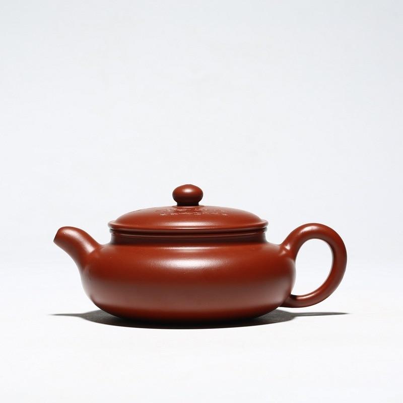 أوصى ييشينغ dahongpao الكرة حفرة منحوتة باليد رسم جميع تزهر الزهور وعاء وعاء من الشاي هو بيع على إبريق الشاي