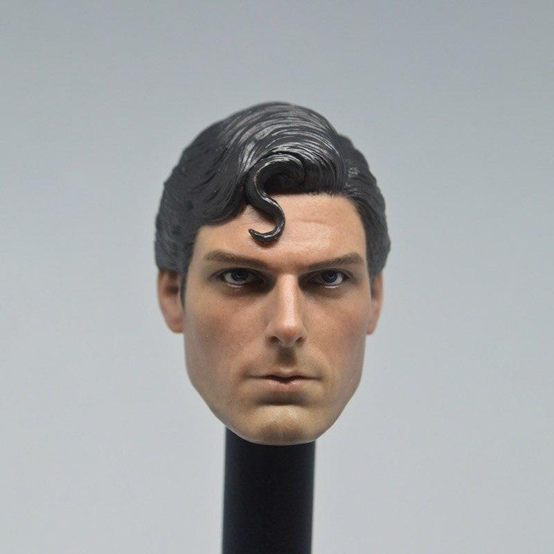 """Caja de exposición a escala 1/6 Superman Returns Superman cabeza clásica Cristóbal esculpir cabeza tallado Headplay para 12 """"figura de acción"""
