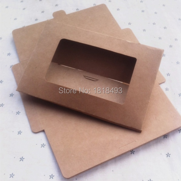 free shipping blank 350gsm kraft paper postcard envelope15.5x10.2x0.3CM/gift packing box/card packing box/tags 50 pcs a lot