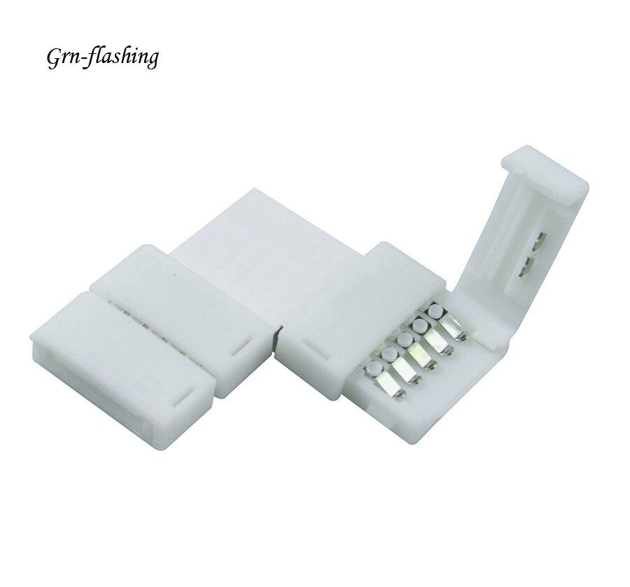 12 мм 5 pin L форма RGBW RGBWW светодиодные полосы света разъем терминала для подключения углов под прямым углом RGBW светодиодные полосы света