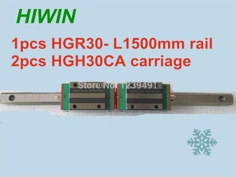 1 قطعة أداة توجيه طولية من هايون HGR30 -L1500mm مع 2 قطعة الخطي النقل HGH30CA CNC أجزاء