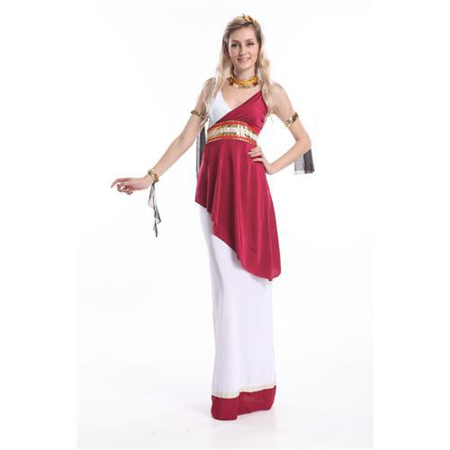 Roman Dress Costume Contrast Colors M Size High Quality Women Costume V Neck Sexy Women Costume Sleeveless ZY390