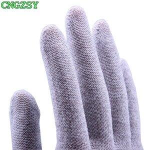 Image 4 - 5 пар износостойких нейлоновых перчаток из углеродного волокна для автомобиля, обертывание, Тонировка окон, вспомогательные инструменты, вязаные перчатки 5D08