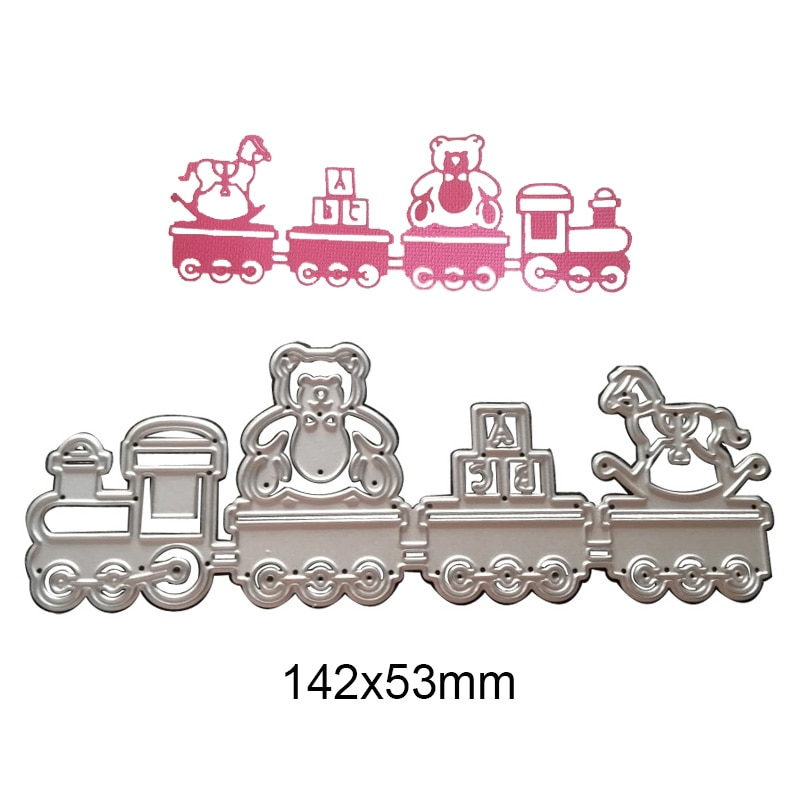 Cutting Dies Baby Toy Car Metal Stencil for DIY Scrapbooking Photo Album Embossing Kids Cards Decorative Paper Crafts Die Cuts