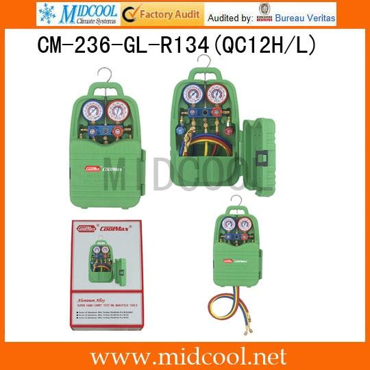 Hand-carry manifolds operation CM-236-GL-R134(QC12H/L)