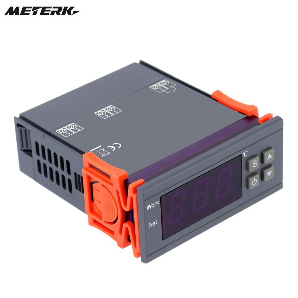 Salida LED Digital controlador de temperatura termostato incubadora-50 ~ 110 grados Celsius con Sensor 90 ~ 250V 10A