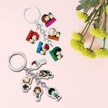 Abordable nouvelle mode mignon dessins animé mon héros académie acrylique porte-clés charme cadeaux