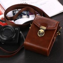 PU LEATHER Camera Case Bag Para Olympus TG-5 TG-4 TG-3 TG-2 TG-1 SZ17 SZ16 TG-870 TG-850 TG-610 SZ-17 SH- SH-3 2 SH-SH-SH-21 50 60