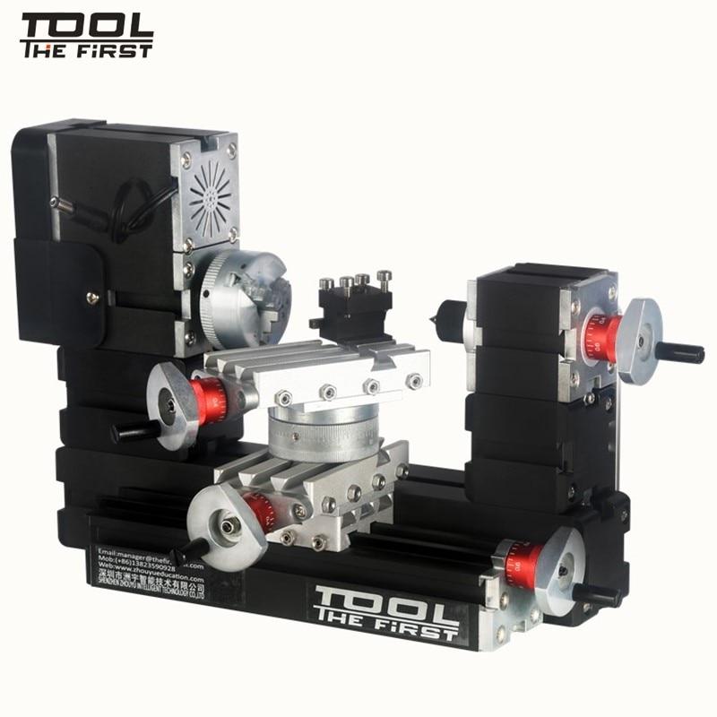 Thefirsttool TZ20002MR Большая Мощность Мини Металл токарно-ротационный станок 12000 об/мин 60 Вт двигатель большой радиус обработки DIY инструмент детский подарок