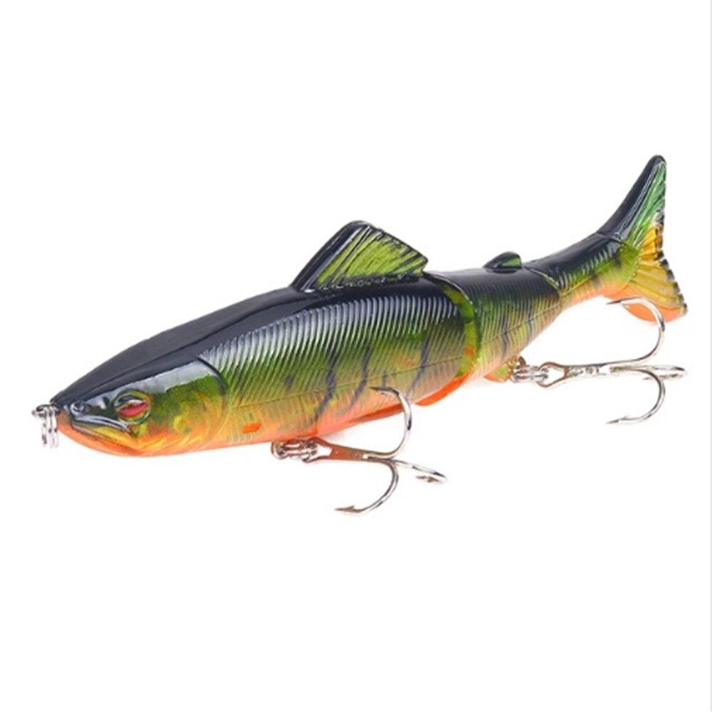 1 Uds señuelo de pesca Minnow 130mm 18,5g secciones múltiples articuladas Crankbait cebo duro Artificial Bass Trolling Pike herramientas de pesca de carpa