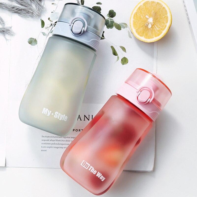 Пластиковая бутылка для воды 450 мл, спортивный стакан с замком, дорожная чашка, Спортивная Питьевая бутылка, пластиковый велосипедный чайни...
