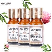 Paquet dhuiles essentielles de Lotus de romarin de sauge sclarée doroaroma de marque célèbre pour le bain de station thermale de Massage daromathérapie 10ml * 3
