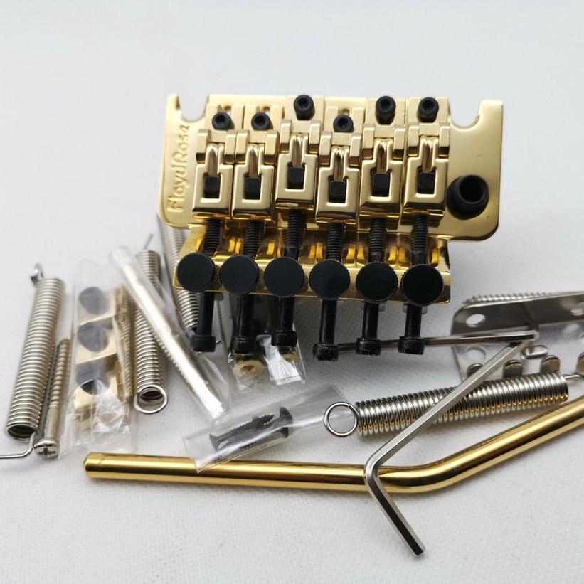 Puente de guitarra con bloqueo de guitarra eléctrica Puente del sistema de Tremolo con tornillo de aleación de titanio