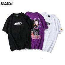 BOLUBAO marque de mode Hip Hop hommes T-Shirts impression 2019 été hommes t-shirt décontracté rue vêtements hommes T-Shirts haut