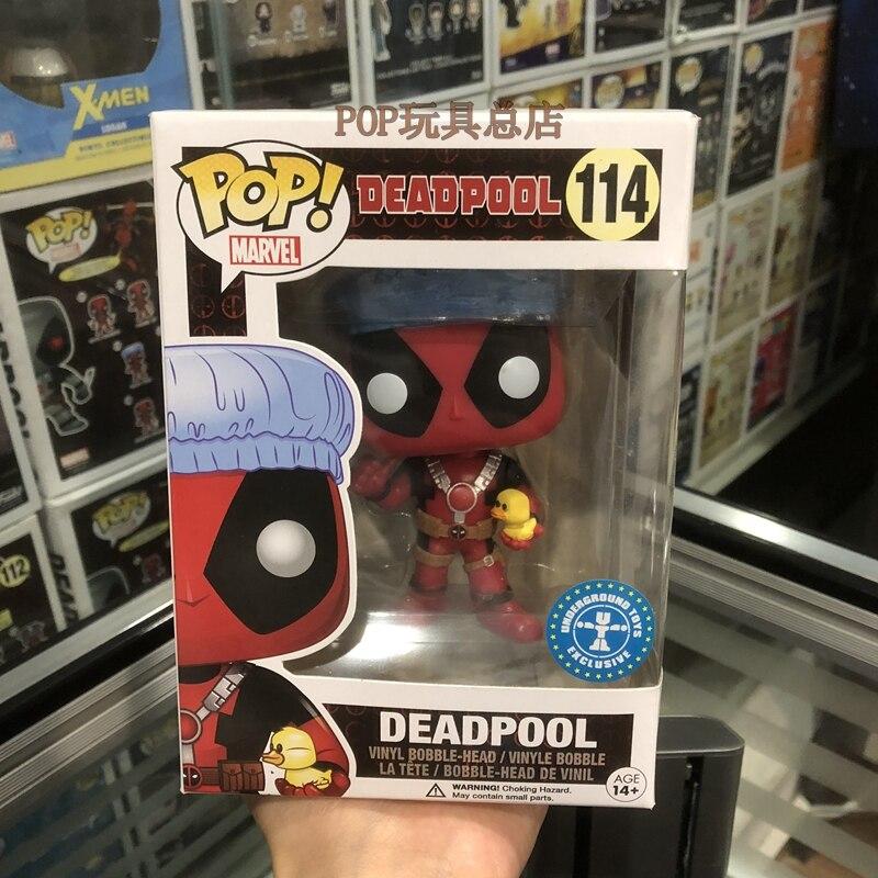Esclusivo Funko pop Marvel: Tempo del Bagno Deadpool Vinyl Action Figure Bobble Head Da Collezione Giocattolo del Modello con la Scatola Originale