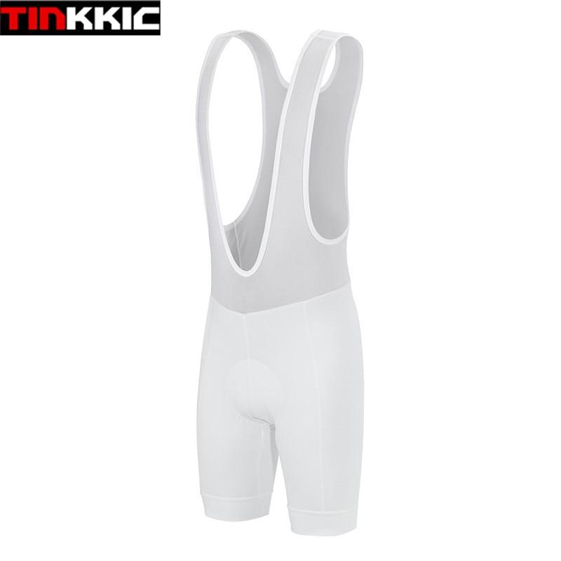 Tinkkic pantalones cortos blancos para Ciclismo 2017, pantalones cortos con almohadilla de Gel para Ciclismo, pantalones cortos transpirables de verano para bicicleta corta # DK-01