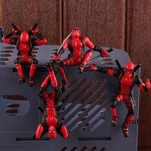Marvel légendes x-men Deadpool Mini PVC Figure jouets chauds Deadpool jouet voiture décoration de la maison poupée avec aimant 4 pièces/ensemble 8.5cm