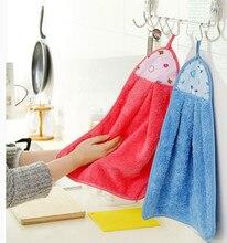 10 pcs/lot kitchen hand towel coral fleece bathroom washcloth cartoon dish towel 34.5 x 47 cm