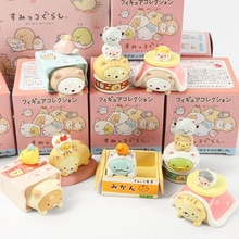 JY 8 unids/lote Japón vestir lindo gato serie criatura de esquina ornamentos decorativos figuras de acción vinilo muñeca WJ01